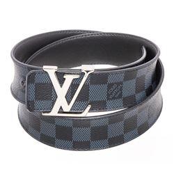 Louis Vuitton Damier Cobalt Canvas Leather Initiales 40MM Belt