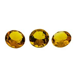 12.10 ctw.Natural Round Cut Citrine Quartz Parcel of Three