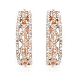 14k Rose Gold 0.32CTW Diamond Earrings, (SI1/G)