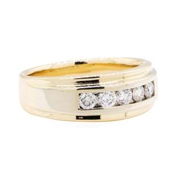0.85 ctw Diamond Band - 14KT Yellow And White Gold