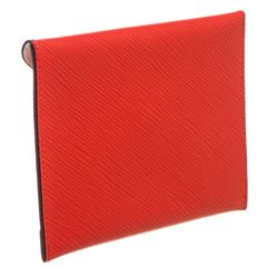 Louis Vuitton Red Epi Leather Envelope Invitation Wallet