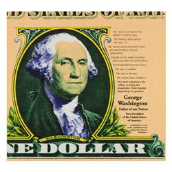 George Washington by Steve Kaufman (1960-2010)