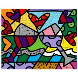 Toast To Love Glasses by Britto, Romero