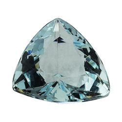 3.04 ct.Natural Trilliant Cut Aquamarine