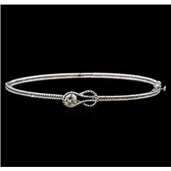 14KT White Gold 0.33 ctw Diamond Bangle Bracelet