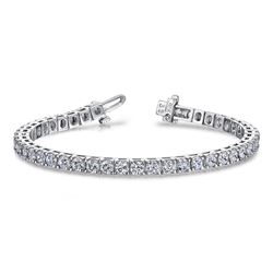 14K White Gold 25.67CTW Diamond Bracelet, (SI2-SI3/G-H)