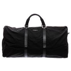 Gucci Black Nylon Leather Boston 2way Duffle Bag