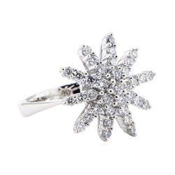 0.60 ctw Diamond Starburst Ring - 14KT White Gold