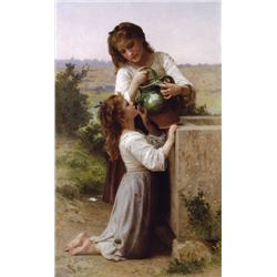 William Bouguereau - At the Fountain