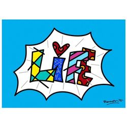 Life Blue Mini Word by Britto, Romero
