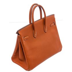 Hermes Brown Togo Leather Birkin 25 cm Handbag