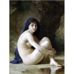 William Bouguereau - Seated Nude