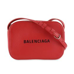 Balenciaga Camera Everyday Red Leather Cross Body Bag