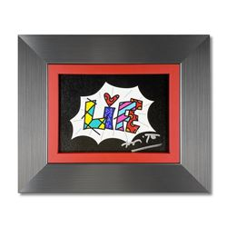 Life Black Mini Word by Britto, Romero