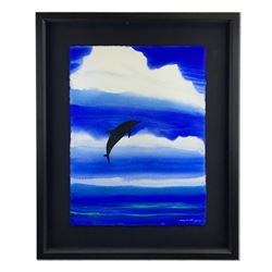 """Dolphin Breaching"" by Wyland Original"
