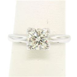 14k White Gold 0.83 ctw I VVS2 Round Brilliant Cut Diamond Solitaire Ring