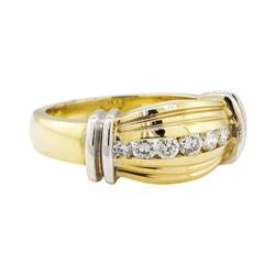 0.40 ctw Diamond Ring - 14KT Yellow and White Gold