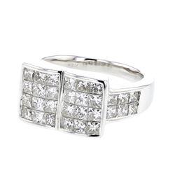 2.59 CTW Princess Diamond Ring 14K White Gold - REF-321M6F