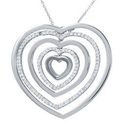 0.94 CTW Diamond Necklace 18K White Gold - REF-139K2W