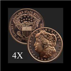 1 oz Morgan .999 Fine Copper Bullion Round