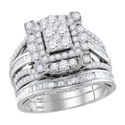 1 & 3/4 CTW Round Diamond Bridal Wedding Engagement Ring 14kt Two-tone Gold - REF-137K9R