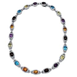 4.7 CTW Diamond Necklace 18K White Gold - REF-655M7F