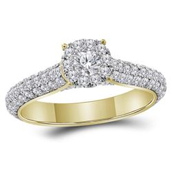 1 & 1/2 CTW Round Diamond Solitaire Bridal Wedding Engagement Ring 14kt Yellow Gold - REF-101K9R