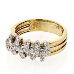0.36 CTW Diamond Ring 18K 2Tone Gold - REF-64R3K