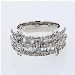 1.6 CTW Diamond Ring 14K White Gold - REF-134N7Y