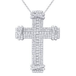 4.18 CTW Diamond Necklace 18K White Gold - REF-550W6H