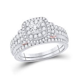 1 & 1/3 CTW Round Diamond Bridal Wedding Engagement Ring 14kt Two-tone Gold - REF-132N3Y