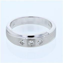 0.18 CTW Diamond Ring 18K White Gold - REF-90N3Y