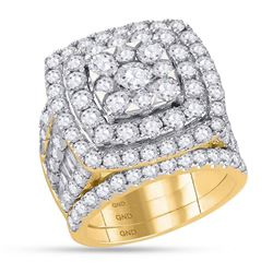 6 CTW Round Diamond Bridal Wedding Engagement Ring 14kt Yellow Gold - REF-479N9Y