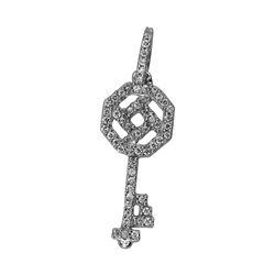 0.14 CTW Diamond Necklace 14K White Gold - REF-17H8M