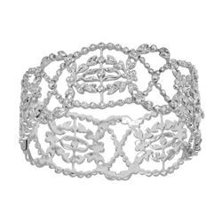 1.21 CTW Diamond Bangle 18K White Gold - REF-415K3W