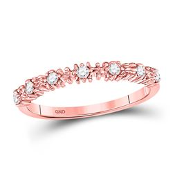 1/6 CTW Round Diamond Stackable Ring 10kt Rose Gold - REF-14W4F