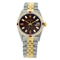 Rolex Pre-owned 36mm Mens Chocolate Brown Two Tone - REF-640K4X