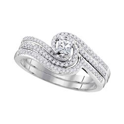 3/8 CTW Princess Diamond Bridal Wedding Engagement Ring 10kt White Gold - REF-41R9H