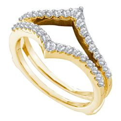 1/2 CTW Round Diamond Ring 14kt Yellow Gold - REF-41N9Y