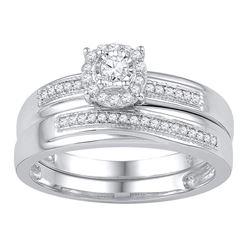 1/4 CTW Round Diamond Bridal Wedding Engagement Ring 10kt White Gold - REF-26T3K