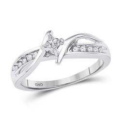 1/5 CTW Princess Diamond Solitaire Bridal Wedding Engagement Ring 10kt White Gold - REF-20M3A