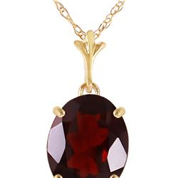 Genuine 3.12 ctw Garnet Necklace 14KT Yellow Gold - REF-25P3H
