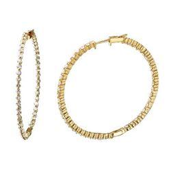 3.4 CTW Diamond Earrings 14K Yellow Gold - REF-236W2H