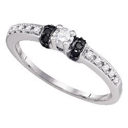 1/4 CTW Round Diamond Solitaire Bridal Wedding Engagement Ring 10kt White Gold - REF-18W3F