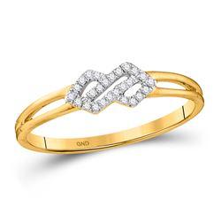 1/12 CTW Round Diamond Fashion Ring 10kt Yellow Gold - REF-9K6R