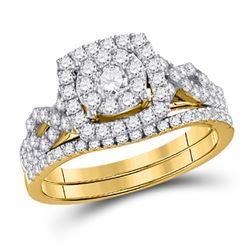 1 CTW Round Diamond Bridal Wedding Engagement Ring 14kt Yellow Gold - REF-75K3R