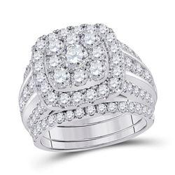 4 CTW Round Diamond Bridal Wedding Engagement Ring 14kt White Gold - REF-321R5H