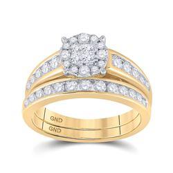 1 CTW Princess Diamond Bridal Wedding Engagement Ring 14kt Yellow Gold - REF-95N9Y
