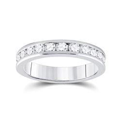 3/4 CTW Round Diamond Wedding Ring 14kt White Gold - REF-69M3A