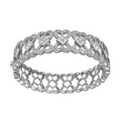 3.9 CTW Diamond Bangle 14K White Gold - REF-439F2N